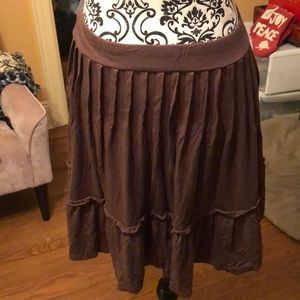 BCBG chocolate skirt